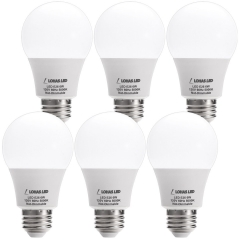 LOHAS LED Bulb 40W Incandescent Equivalent, A19 Bulb Daylight 5000K, E26 Base, Non-Dimmable 500Lm Light Bulb for Vanity Light Fixture (6 Pack)