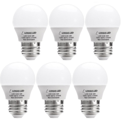 LOHAS LED 3W(25 Watt Equivalent) Light Bulbs, Warm White 2700K LED, E26 Medium Screw Base LED Lights for Home(6 Pack)