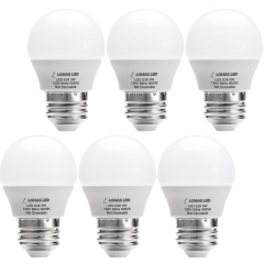 LOHAS LED G14 Light Bulb, 3W Daylight White 5000K LED Bulbs, 25 Watt Equivalent LED Lights for Home, E26 Medium Screw Base (6 Pack)