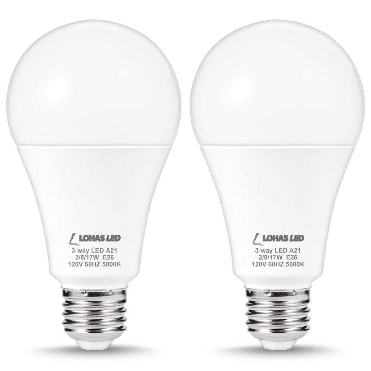 Lohas 3 Way Light Bulb 25w 60w 100w Equivalent A21 Led Bulbs
