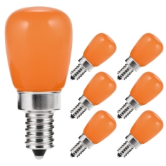 6 Pack LOHAS Orange String Night Light,Candelabra Bulb E12, 20W Equivalent LED Light Bulb, S11 Mini Bulbs for Party Decoration