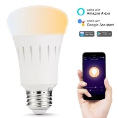 LOHAS LED Smart Bulb Work with Alexa and Google Home,A19 9W E26,Tunable 2000k-6500k