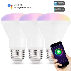 LOHAS BR20 Smart WIFI Bulb, Multi Color Dimmable, Smart phone Control, Compatible with Alexa and Google Home, 3 Pack