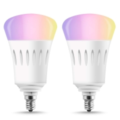 LOHAS LED Smart Bulb Work with Alexa and Google Home,A19 E12 9W, RGB& Daylight White