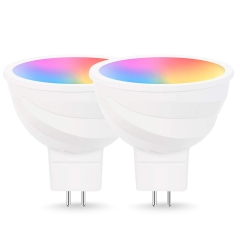LOHAS LED Smart Bulb Work with Alexa and Google Home, MR16 5W, RGB Cool White 5800K
