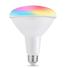 LOHAS LED Smart Bulb Work with Alexa and Google Home, Flood Light, BR40 E26 15W RGB Dimmable