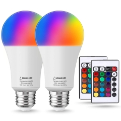 LOHAS LED RGB Bulb Dimmable by Controller,A19 E26 10W,Daylight&Multicolored(Buy @amazon code: 50JCFRLU)