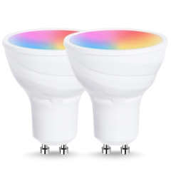 LOHAS LED Smart Bulbs Work with Alexa and Google Home, Daylight White, GU10 5W RGB 6000K Dimmable