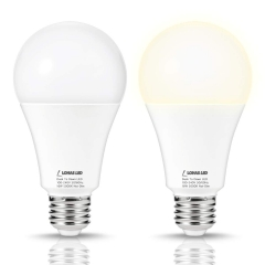 LOHAS Light Sensor bulbs, Dusk-to-Dawn, A21 E26 18W, Daylight White 5000K(Buy @amazon code: 6P29O6C6)
