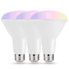 LOHAS LED Smart Bulb Work with Alexa and Google Home,BR30 E26 10W,RGB& Daylight White