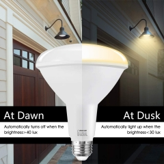 LOHAS Light Sensor bulb, Dusk-to-Dawn Smart light, BR40 E26 15W, Soft White 3000K