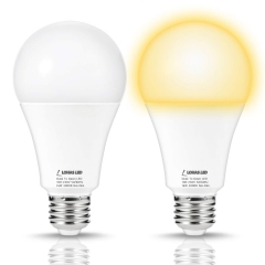 LOHAS Light Sensor bulb, Dusk-to-Dawn smart Light, A21 E26 18W, Soft White 3000K