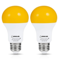 LOHAS Light Sensor bulb, Dusk-to-Dawn Amber Yellow LED, A19  6W