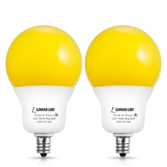 LOHAS Light Sensor bulb, Dusk-to-Dawn Amber Yellow LED, A19 E12 6W