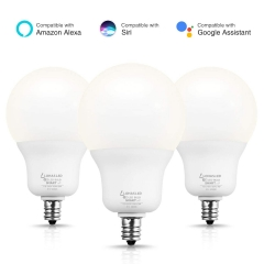 LOHAS Smart LED Light Bulb, Compatible with Alexa, Google Home Assistant (No Hub Required), Remote Control by Smartphone, E12 Base, A19 Daylight(5000K