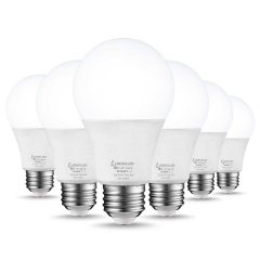 LOHAS Smart Light Bulb, Compatible with Amazon Alexa, Google Home, Remote Control by Smartphone iOS & Android, E26 A19 50W, Daylight, Dimmable, 6 Pack
