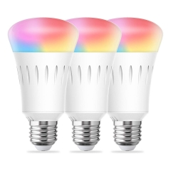 LOHAS Smart LED Bulb, A19 E26 810LM 60W Equivalent(9W), RGB, Dimmable, Daylight Warm, Alexa, Google Home and Siri Compatible(3Pack)