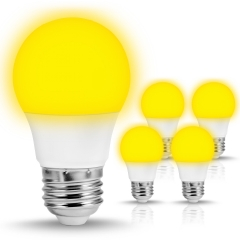 LOHAS Yellow LED Bulbs, A15 E26 5W, 4 Pack