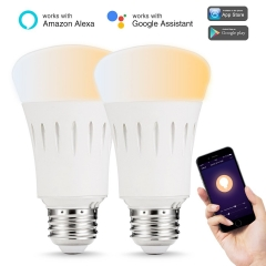 LOHAS LED Smart Bulb Work with Alexa and Google Home,A19 E26 9W, Tunable White (2000K - 6500K)
