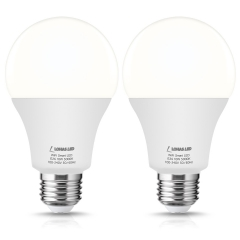LOHAS Smart LED Light Bulbs, Google Home, Siri and IFTTT(No Hub Required), E26, Daylight 5000K, Dimmable, 2 Pack