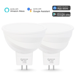 LOHAS  Smart WiFi Light Bulb,MR16 LED, 50 W, 5000K Daylight ,Compatible with Alexa, Google Home Assistant, Remote Control by Smartphone, ( 2 Pack)