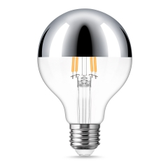 LOHAS Dimmable G25 Silver Bowl Filament Vintage Light Bulbs, 4W(40W Equivalent), E26 Base Edison LED Filament Light Bulbs suitable for Home Lighting