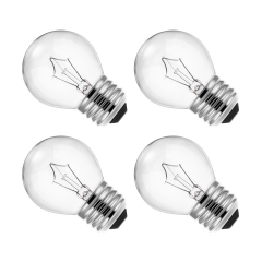 LOHAS Dimmable Filament Vintage Light Bulbs G14, E26 Base, 40W G45 Global Filament Vintage Edison Light Bulbs Suitable for Home Lighting, 4 Pack.
