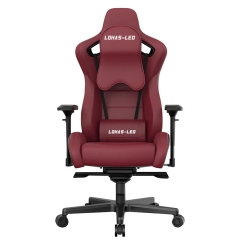 LOHAS-LED Reclining memory foam racing chair, ergonomic high back racing computer desk office chair with retractable feet and adjustable loins, leathe