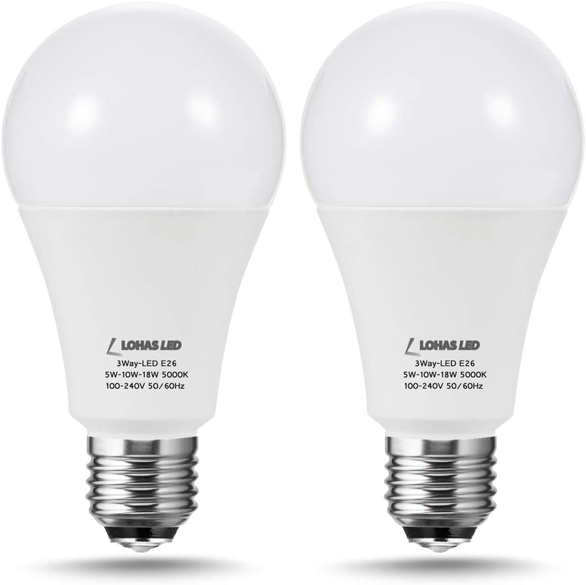 LOHAS A15 LED Bulb 40W Equivalent Daylight Bulbs LED Refrigerator Light Bulb