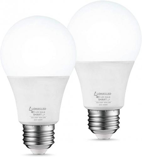 Smart APP Home Wifi Light Bulb Dimmable LED E26 Lamp Voice Work Alexa Google