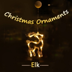 LOHAS LED Christmas Pendant Lights, Elk Deer Shape, Battery Powered, Decorative Hanging Pendant Lights for Christmas Tree, Party, Wedding, Warm White.