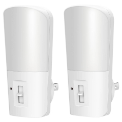 LOHAS Dimmable Night Light, Plug in Light Dusk to Dawn, Daylight 5000K, 2 Pack