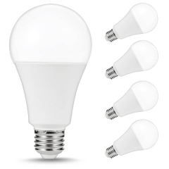 LOHAS LED Light Bulb, A21 E26 Daylight White 5000K, 4 Pack