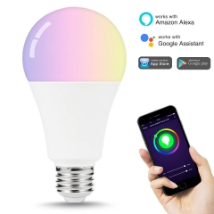 LOHAS Smart LED Bulb, A21 E26 100W Equivalent (14W), RGB, Cool White, Dimmable, Wifi APP Controlled, Alexa Google Assistant Compatible