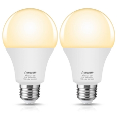 LOHAS Smart Light, work with APP, Alexa Google Assistant, E26, Soft White 3000k, 2 Pack