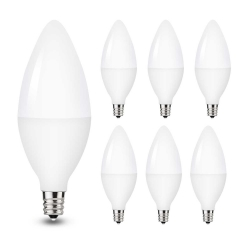 LOHAS LED E12 Candelabra Light Bulbs, 5W (40W Equivalent), Soft White 3000K, 450lm, 6 Pack