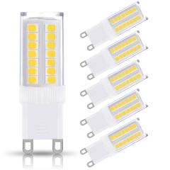 LOHAS G9 LED Light Bulbs, 5W (40W Halogen Equivalent), 400LM, Daylight White (6000K), 5 Pack
