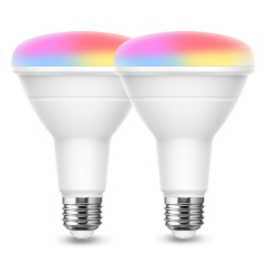 LOHAS Smart Light Bulb, BR30 LED Color Changing Bulbs, 9W(65W Equivalent) 900LM, 2 Pack