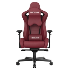 EMOLSOM Reclining memory foam racing chair, ergonomic high back racing computer desk office chair with retractable feet and adjustable loins