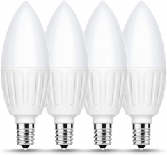 E12 LED Candelabra Bulb, 880LM, 80W Incandescent Equivalent, Soft White 3000K, 4 Pack