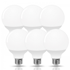 LOHAS G25 LED Globe Light Bulbs, 9W Vanity Round Light Bulb (60W Equivalent) 800LM, E26 Base Daylight 5000K Globe Light Bulbs, 6 Pack